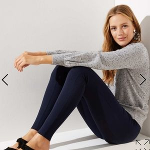 LOFT Burgundy Ponte Leggings